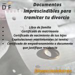 documentación necesaria divorcio